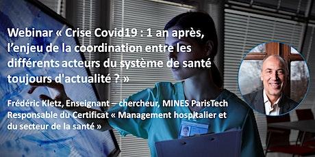 """Webinar Certificat """"Management hospitalier et du secteur de santé"""" bilhetes"""