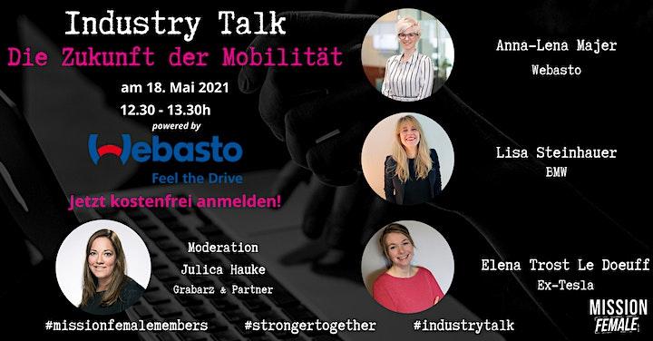 Industry-Talk: Die Zukunft der Mobilität // powered by Webasto: Bild
