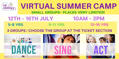 5 DAYS - SUMMER CAMP - SING/ DANCE/ ACT boletos