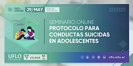 Seminario: Protocolo para conductas suicidas en adolescentes entradas