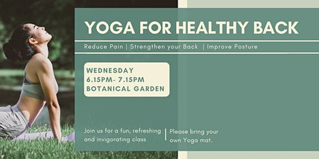 Wednesday Evening Yoga for Healthy Back tickets