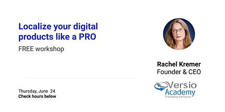 Localize your digital products like a PRO [FREE Workshop] tickets