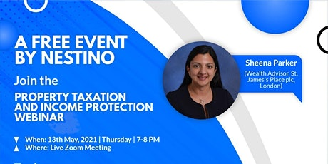 Property Investment Taxation and Income Protection Webinar by Nestino tickets