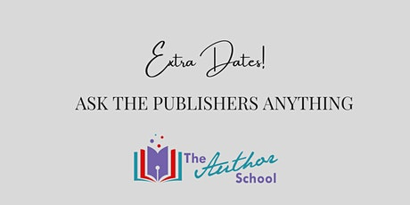 Ask the publishers anything about publishing! tickets