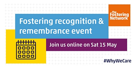 Foster care recognition and remembrance event tickets