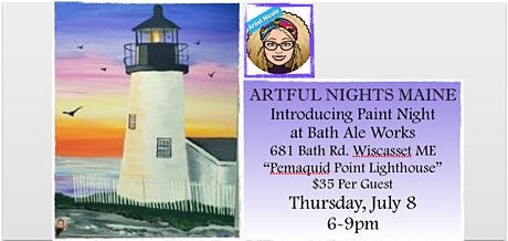Introducing Paint Nights at Bath Ale Works, Wiscasset tickets
