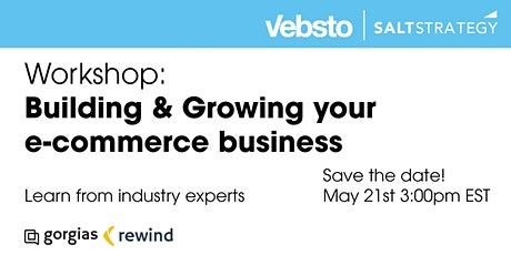 Strategies for building and growing a profitable e-commerce business tickets