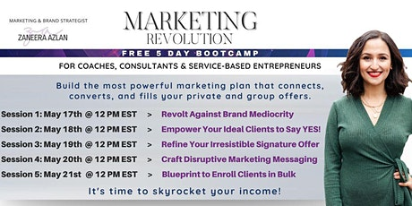 Marketing Revolution Bootcamp tickets