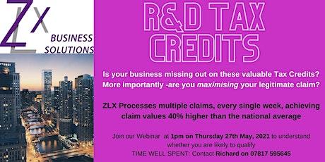 27th May 2021 - R&D Tax Webinar tickets