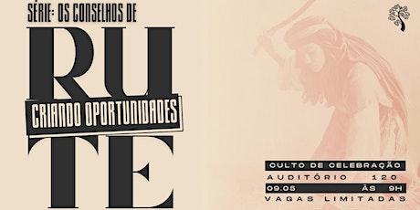 CELEBRAÇÃO CARVALHO 09.05 ÀS 9H NO AUDITÓRIO 120 ingressos