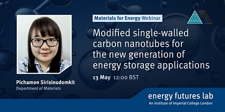 Webinar: Modified single-walled carbon nanotubes for energy storage tickets