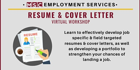 Resume & Cover Letter Workshop tickets