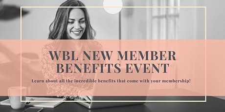 New Member Benefits Event tickets