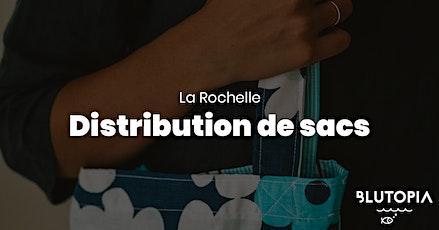 Distribution de sacs Blutopia à La Rochelle billets