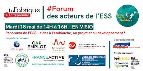 Forum des acteurs de l'ESS billets