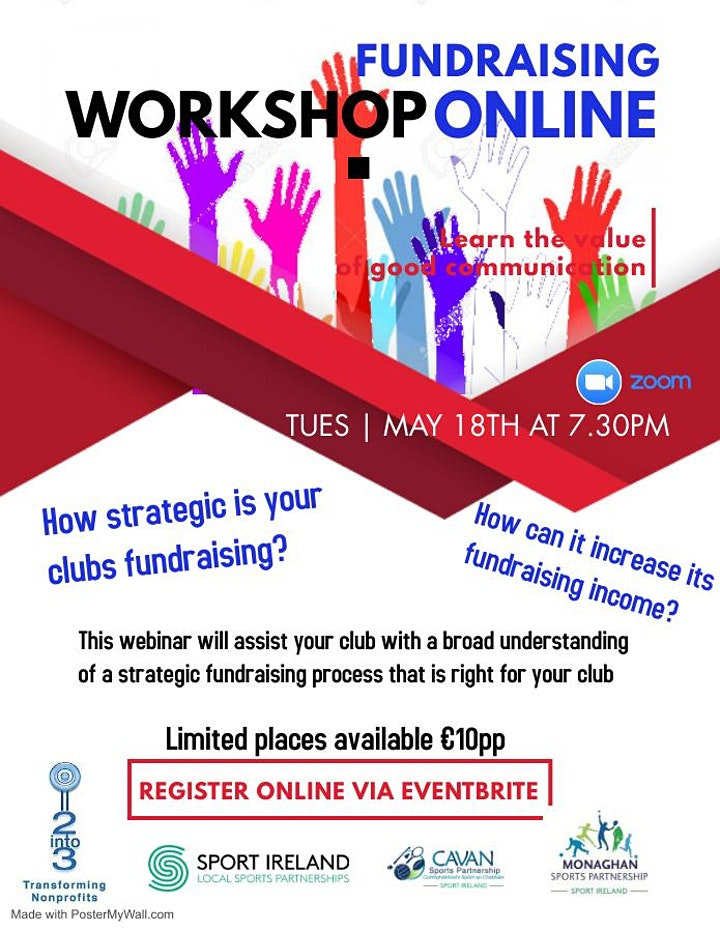 Sports Club/Group Strategic Fundraising Webinar Tuesday May 18th at 7:30pm image