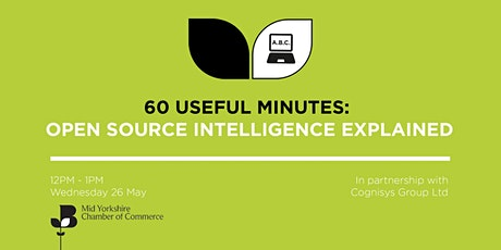 60 Useful Minutes - Open Source Intelligence (OSINT) Explained tickets