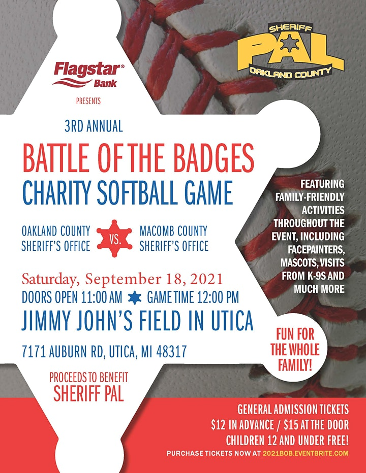 3rd Annual Battle of the Badges Charity Softball Game image
