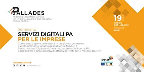 Servizi digitali PA per le imprese biglietti