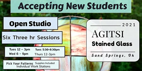 Stained Glass 6 Session Open Studio Workshop tickets