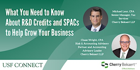 What You Need to Know About R&D Credits + SPACs to Help Grow Your Business tickets