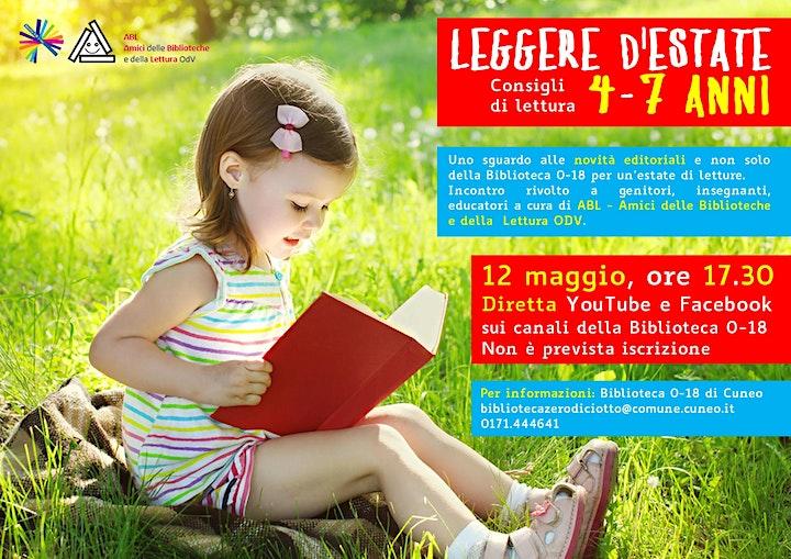 Immagine Leggere d'estate: consigli di lettura per 4-7 anni > Incontro online