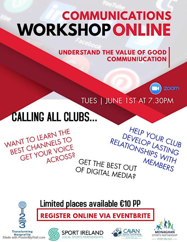 Sports Club/Group Communications Webinar Tuesday June 1st at 7:30pm image