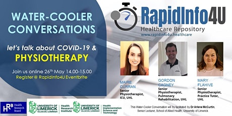 RapidInfo4U Water-Cooler Conversations: COVID-19 & Physiotherapy tickets