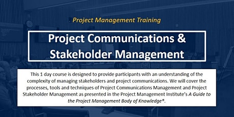 Project Communications & Stakeholder Mangement [ONLINE] tickets