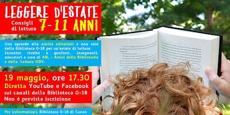 Leggere d'estate: consigli di lettura per 7-11 anni > Incontro online biglietti