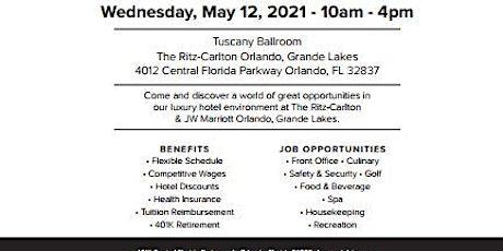 Ritz-Carlton and JW Marriott Orlando, Grande Lakes Hiring Event tickets