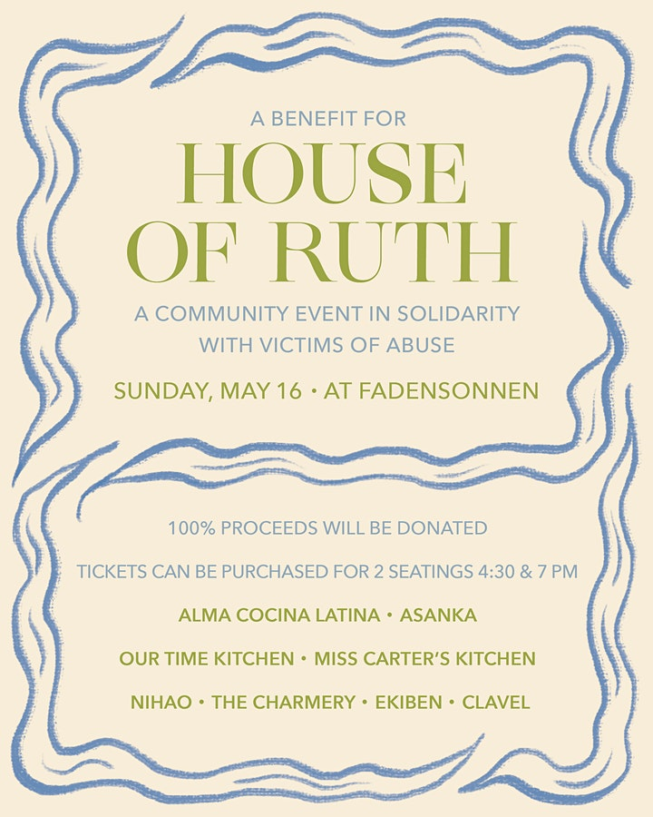 HOUSE OF RUTH DINNER AT FADENSONNEN ON SUNDAY, MAY 16 image