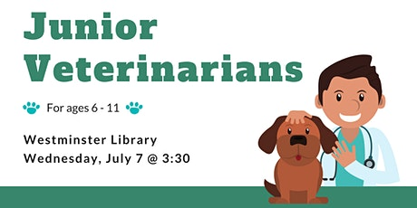 Tweens: Junior Veterinarians - Westminster Library tickets