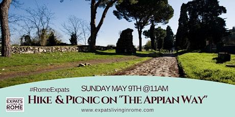 """SUNDAY MAY 9 – HIKE & PICNIC ON """"THE APPIAN WAY"""" (FREE) biglietti"""