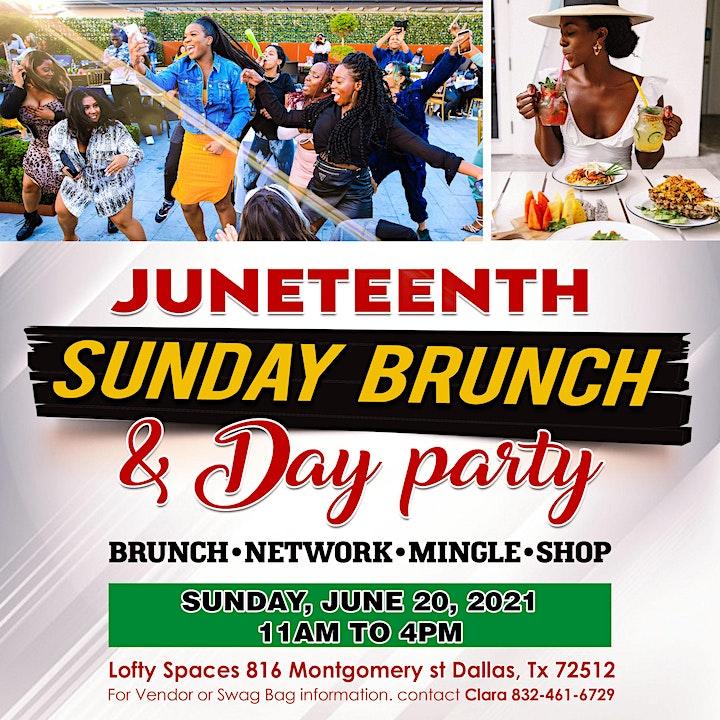 Juneteenth Sunday Brunch & Pop Up Shop image