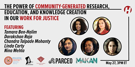 The Power of Community-Generated Research in our Work for Justice tickets