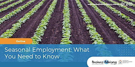 Seasonal Employment: What You Need to Know tickets