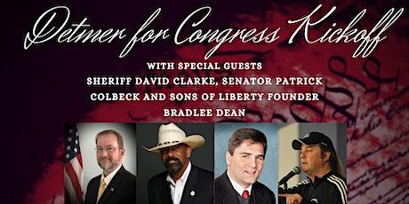 Detmer for Congress Kickoff! tickets