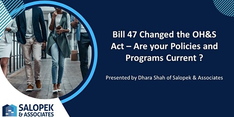 Bill 47 - Changes in your Workplace tickets