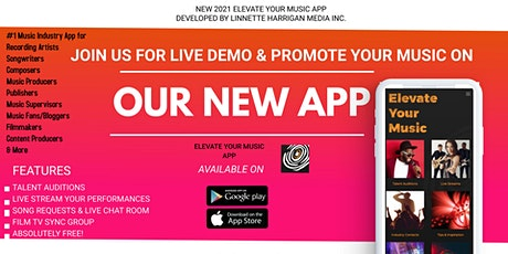 ELEVATE YOUR MUSIC- VIRTUAL DEMO, REGISTRATION & NETWORKING EVENT tickets