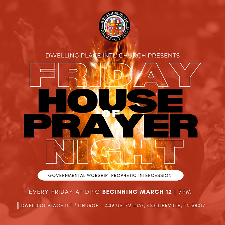 FRIDAY NIGHT HOUSE OF PRAYER image