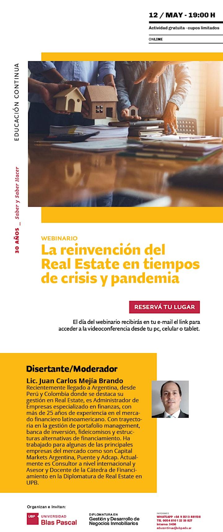 Imagen de Webinario> La reinvención del Real Estate en tiempos de crisis y pandemia