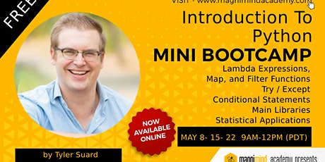Free - Online - Live Introduction to Python Mini Bootcamp tickets