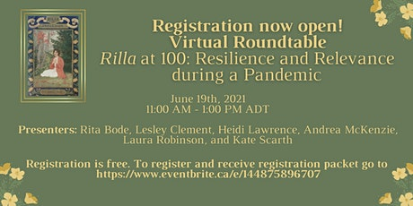 Rilla at 100: Resilience and Relevance during a Pandemic Virtual Roundtable tickets