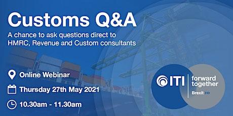 InterTradeIreland Brexit Advisory Service Customs Q&A tickets