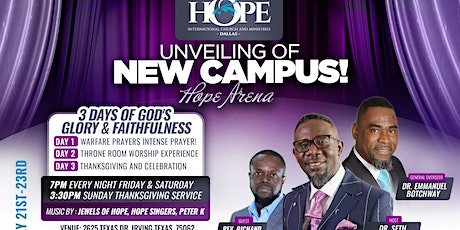 Hope Dallas Unveiling of New Campus in Irving, TX tickets