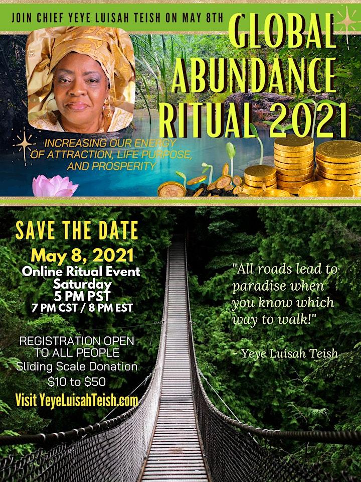 Global Abundance Ritual 2021 with Chief Yeye Luisah Teish image