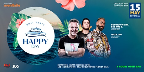 Happy day - Boat Party 3 hours Open Bar tickets