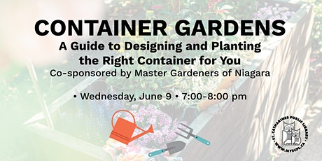 Container Gardens: A Guide to Designing and Planting tickets