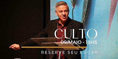 CULTO NOITE | Domingo 09/Maio ingressos